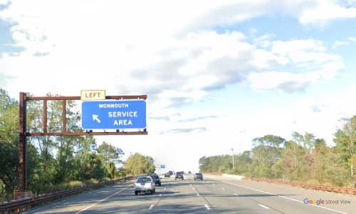 nj gsp new jersey garden state parkway monmouth service plaza northbound mile marker 100 off ramp exit