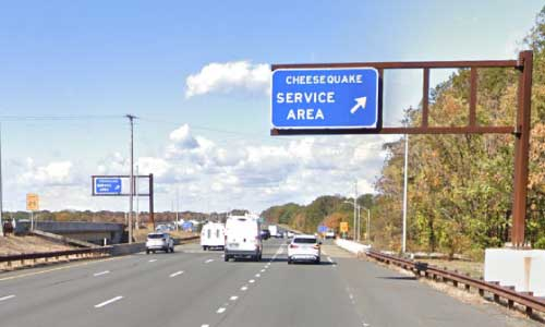 nj gsp new jersey garden state parkway monmouth service plaza northbound mile marker 124 off ramp exit