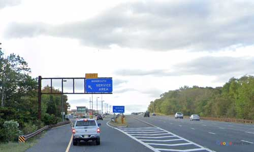 nj gsp new jersey garden state parkway monmouth service plaza southbound mile marker 100 off ramp exit