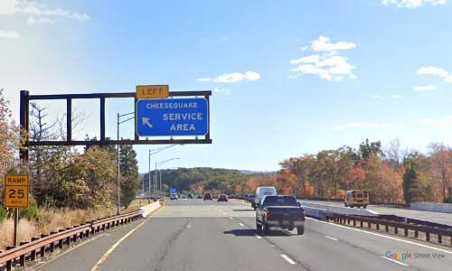 nj gsp new jersey garden state parkway monmouth service plaza southbound mile marker 124 off ramp exit