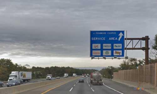 nj new jersey turnpike james fenimore cooper service plaza sourthbound mile marker 39 off ramp exit