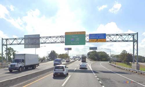 nj new jersey turnpike vince lombardi service plaza southbound mile marker 116 off ramp exit