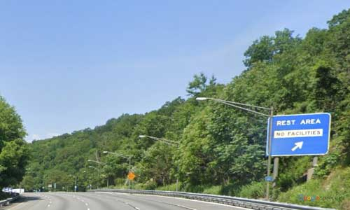 ny interstate 80 new jersey i80 wayside rest area mile marker 21 westbound off ramp exit