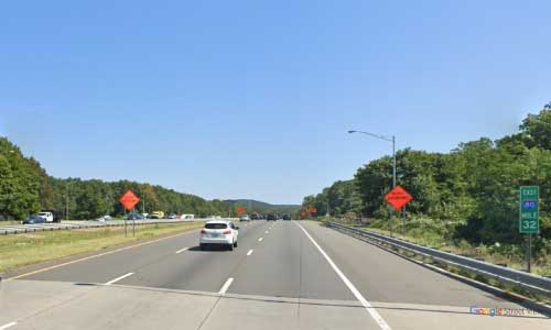ny interstate 80 new jersey i80 wayside rest area mile marker 32 eastbound off ramp exit